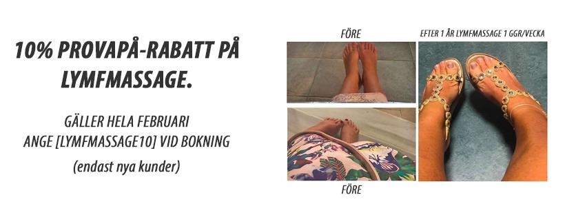 Lymfmassage - provapå-rabatt 10%
